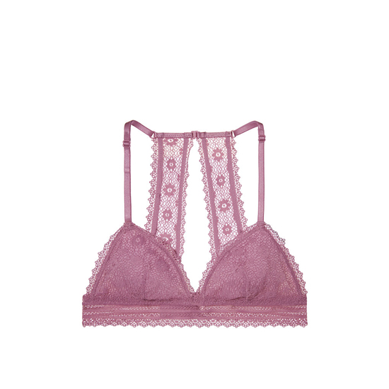 Cheap VICTORIA\'S SECRET Gentle Mauve Peek-A-Boo Crochet Lace Triangle Bralette Online