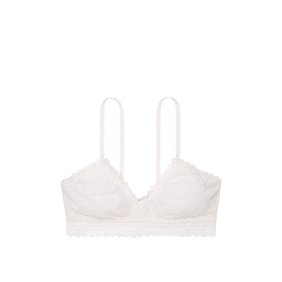 Cheap VICTORIA\'S SECRET Coconut White Lace Scoopneck Bralette Online