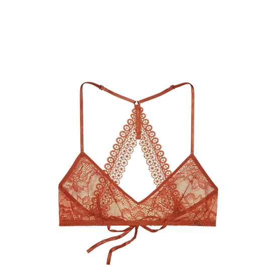 Cheap VICTORIA'S SECRET Ginger Glaze NEW! Lace & Mesh Scoopneck Bralette Online