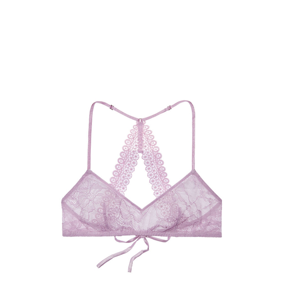 Cheap VICTORIA\'S SECRET Fair Orchid NEW! Lace & Mesh Scoopneck Bralette Online
