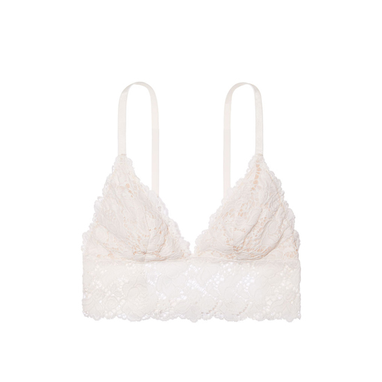 Cheap VICTORIA\'S SECRET Coconut White Long Line Lace Bralette Online