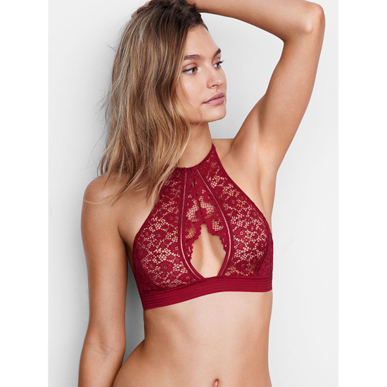 Cheap VICTORIA'S SECRET Red Lacquer Keyhole High-neck Bra Online