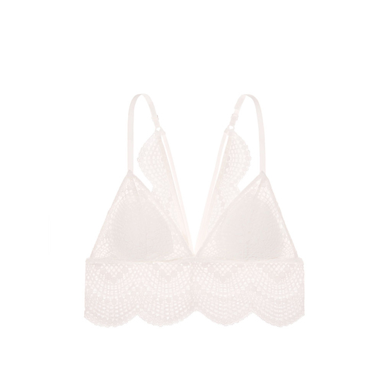 Cheap VICTORIA\'S SECRET Coconut White Strappy NEW! Long Line Bralette Online