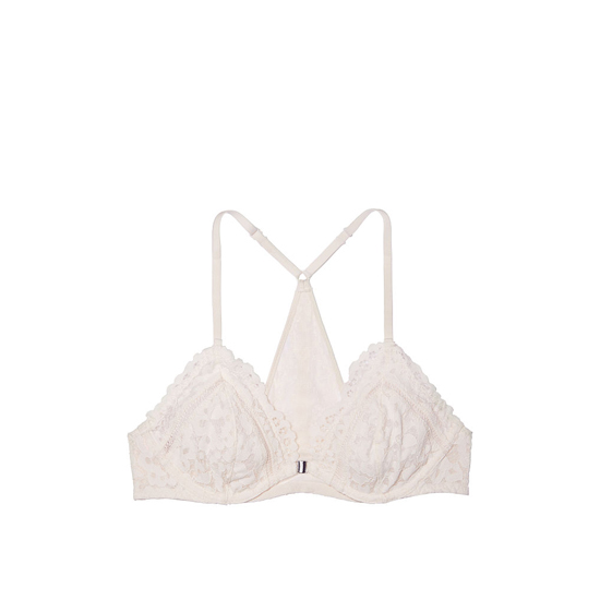 Cheap VICTORIA\'S SECRET Coconut White Lace NEW! Front-Close Unlined Bralette Online