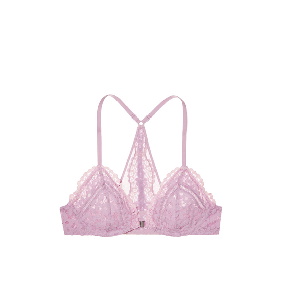 Cheap VICTORIA\'S SECRET Fair Orchid Lace With Sheer Pink Crossdye NEW! Front-Close Unlined Bralette Online