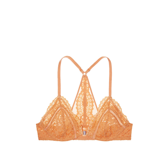 Cheap VICTORIA\'S SECRET Gold Earth Lace With Peach Pie Crossdye NEW! Front-Close Unlined Bralette Online