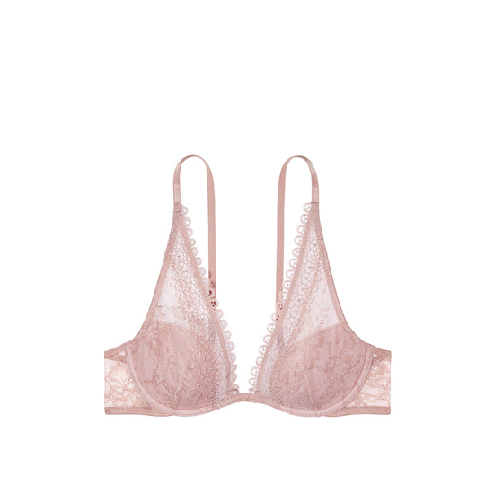 Cheap VICTORIA\'S SECRET Powder Blush With Burnished Lilac Crochet Lace Triangle Bra Online