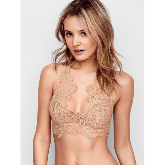 Cheap VICTORIA'S SECRET Sugar Cookie With Chantilly Lace NEW! The Laced-Up Bralette Online