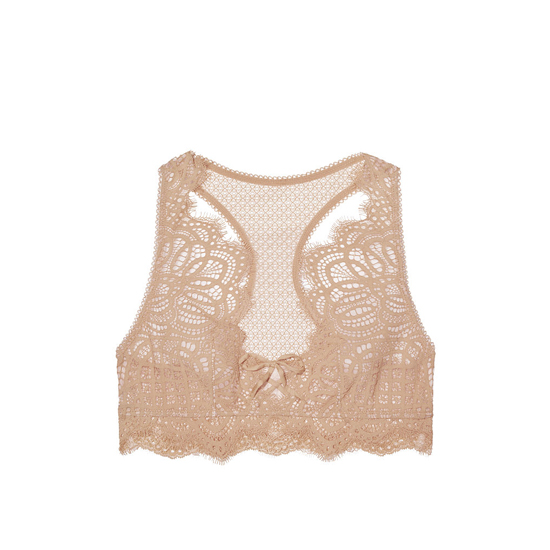 Cheap VICTORIA\'S SECRET Sugar Cookie With Chantilly Lace NEW! The Laced-Up Bralette Online