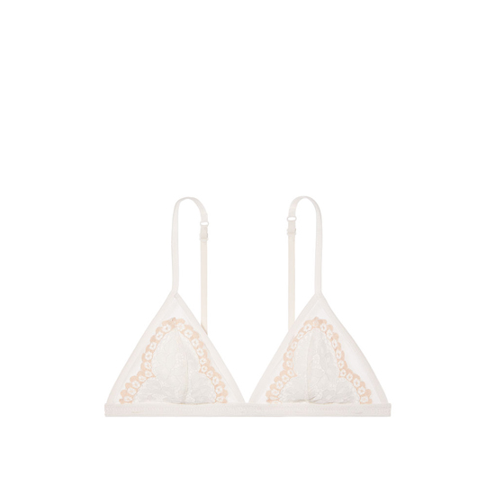 Cheap VICTORIA\'S SECRET Coconut White With Champagne Crossdye NEW! Lace Triangle Bralette Online