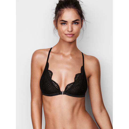 Cheap VICTORIA'S SECRET Black Allover Lace Front-close Bralette Online