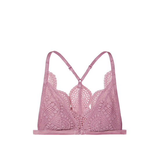 Cheap VICTORIA\'S SECRET Gentle Mauve Allover Lace Front-close Bralette Online