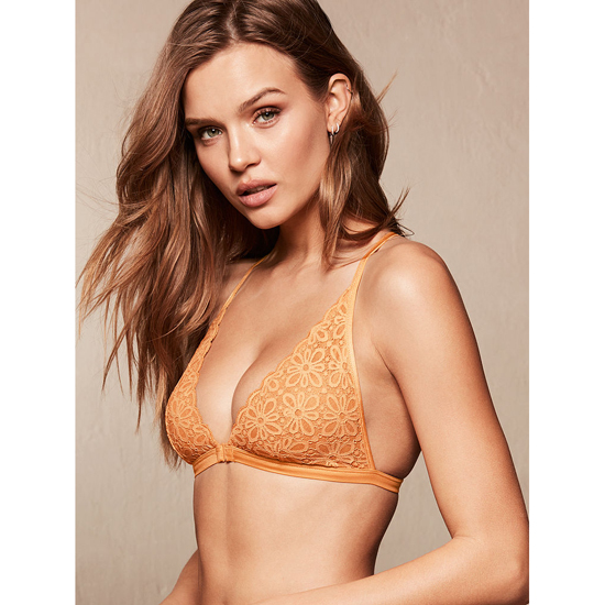 Cheap VICTORIA\'S SECRET Gold Earth Daisy Lace Front-close Bralette Online
