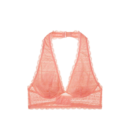 Cheap VICTORIA\'S SECRET Lipsmacker Long Line Halter Bralette Online
