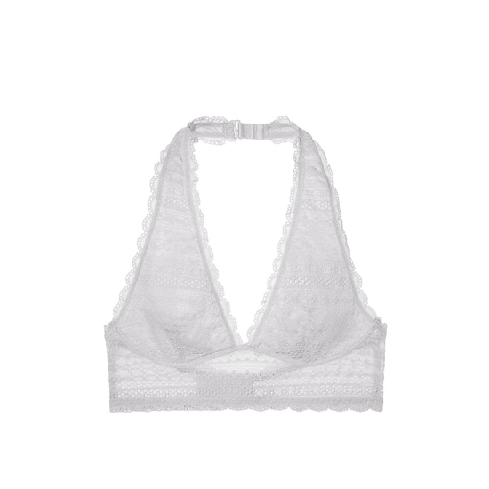 Cheap VICTORIA\'S SECRET So Silver Long Line Halter Bralette Online