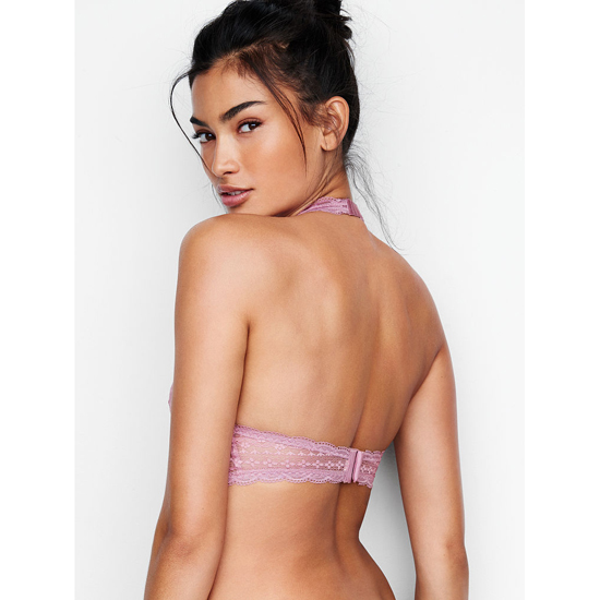 Cheap VICTORIA\'S SECRET Gentle Mauve Long Line Halter Bralette Online