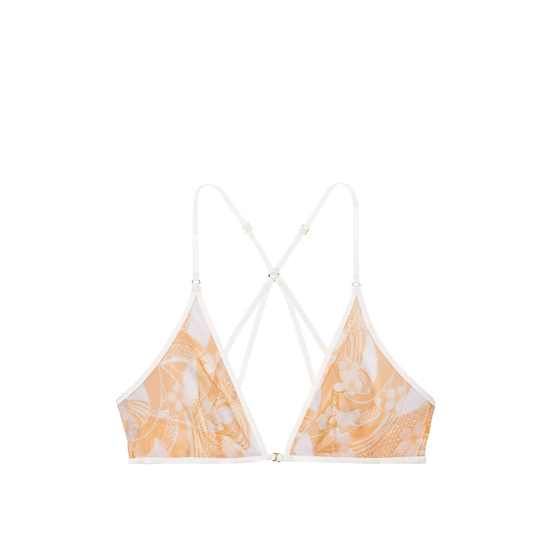 Cheap VICTORIA\'S SECRET Gold Earth Two Tone Print NEW! Mesh Front-close Bralette Online