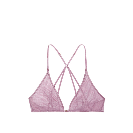Cheap VICTORIA\'S SECRET Gentle Mauve Textured Mesh NEW! Mesh Front-close Bralette Online