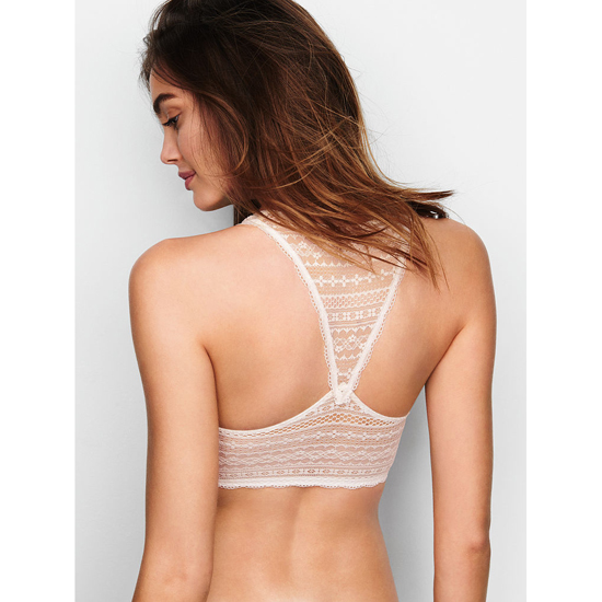 Cheap VICTORIA\'S SECRET Coconut White Lace Racerback Bralette Online
