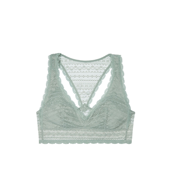 Cheap VICTORIA\'S SECRET Silver Sea Lace Racerback Bralette Online