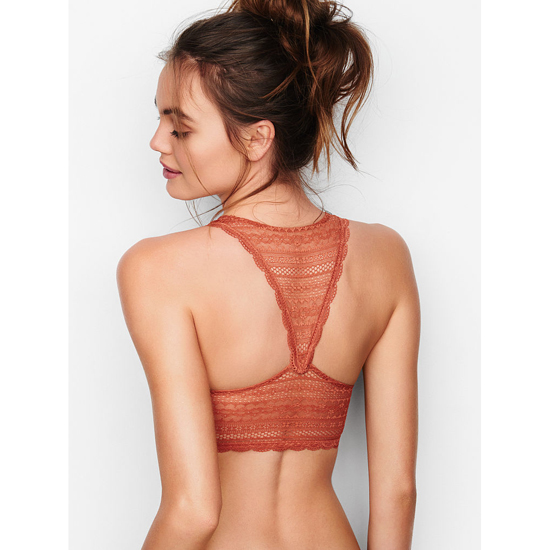 Cheap VICTORIA\'S SECRET Ginger Glaze Lace Racerback Bralette Online