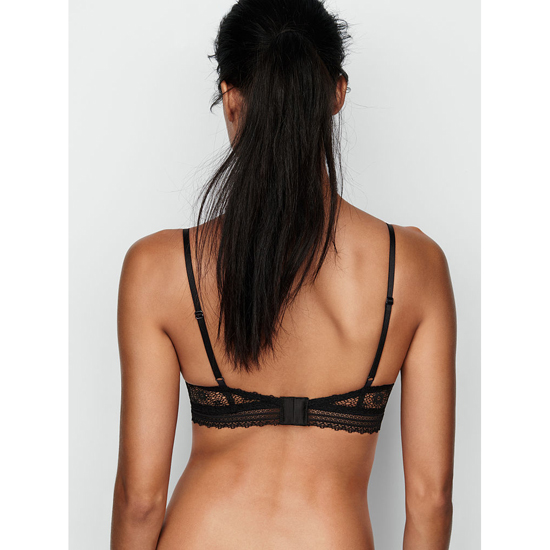 Cheap VICTORIA\'S SECRET Black NEW! Lace Scoopneck Bralette Online