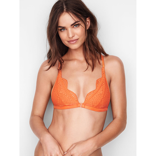 Cheap VICTORIA'S SECRET Tangy Orange Strappy Back NEW! Strappy-back Triangle Bralette Online