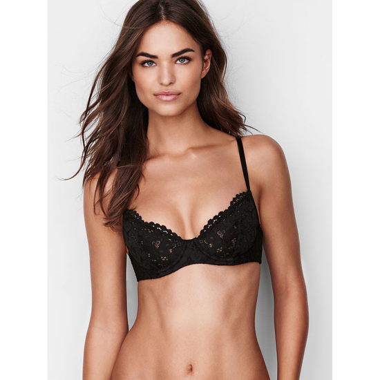 Cheap VICTORIA'S SECRET Black Crochet Lace NEW! Unlined Demi Bra Online