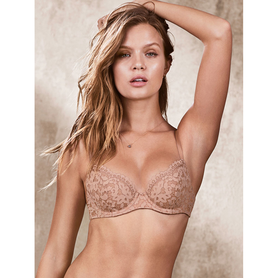 Cheap VICTORIA\'S SECRET Powder Blush Crochet Lace NEW! Unlined Demi Bra Online