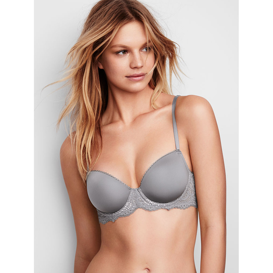 Cheap VICTORIA\'S SECRET Sterling Pewter With Solid Lace Demi Bra Online