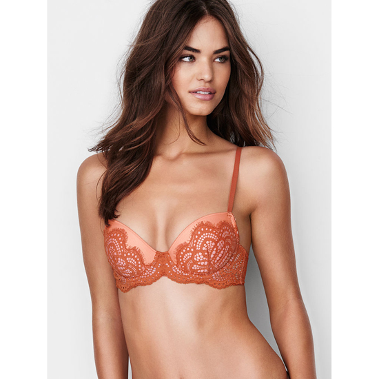 Cheap VICTORIA\'S SECRET Ginger Glaze Solid Lace Demi Bra Online