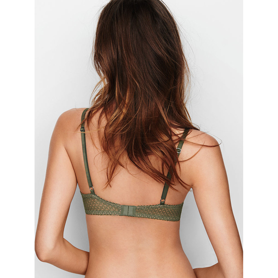 Cheap VICTORIA\'S SECRET Cadette Green Solid Lace Demi Bra Online