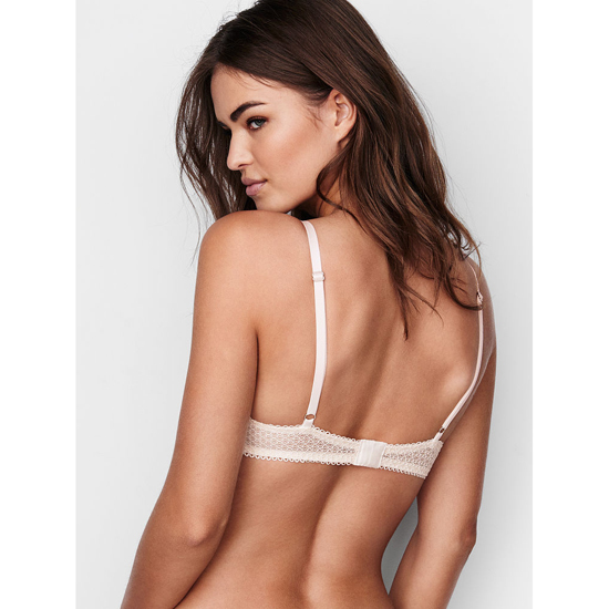 Cheap VICTORIA\'S SECRET Coconut White Solid Lace Demi Bra Online