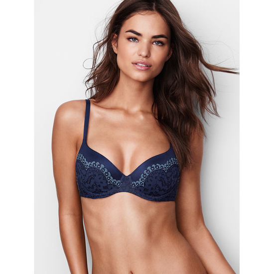 Cheap VICTORIA\'S SECRET Ensign With Faded Denim Crossdye Demi Bra Online