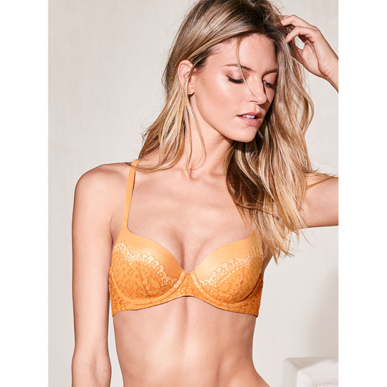 Cheap VICTORIA\'S SECRET Gold Earth With Pink Pie Crossdye Demi Bra Online
