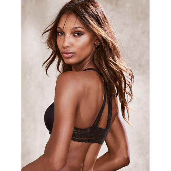 Cheap VICTORIA\'S SECRET Black Triangle Lace Racerback NEW! Demi Bra Online