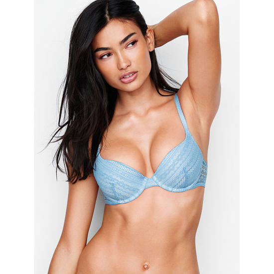 Cheap VICTORIA'S SECRET Faded Denim Lace NEW! Demi Bra Online
