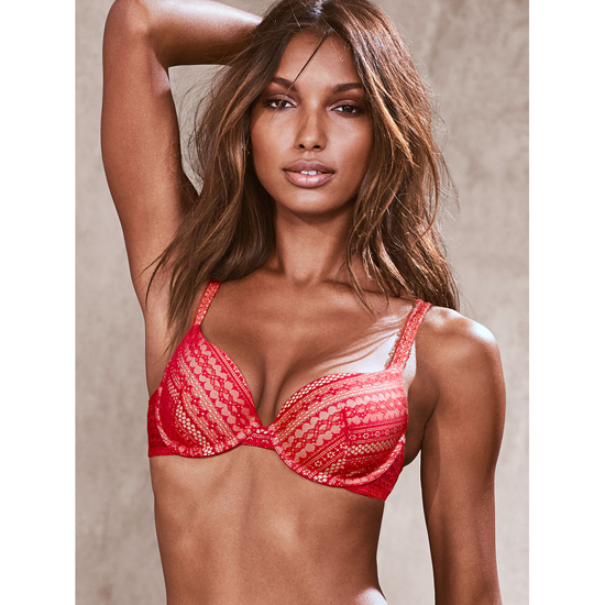 Cheap VICTORIA\'S SECRET Bright Cherry Lace NEW! Demi Bra Online