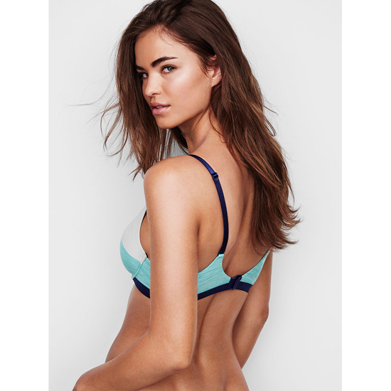 Cheap VICTORIA\'S SECRET Cozumel Teal Colorblock Demi Bra Online