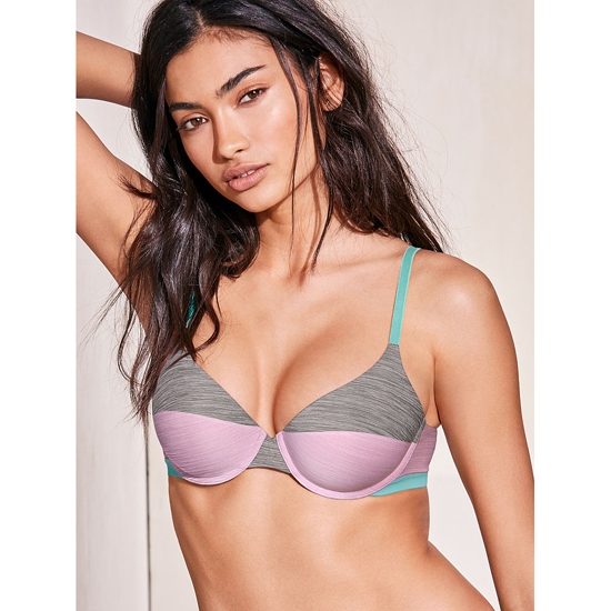 Cheap VICTORIA\'S SECRET Fair Orchid Colorblock Demi Bra Online