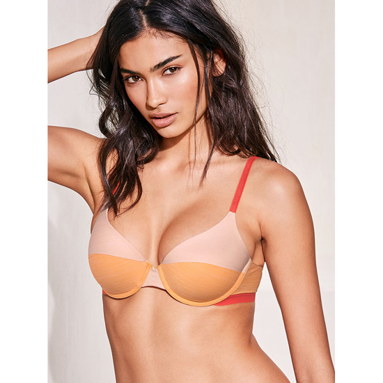 Cheap VICTORIA\'S SECRET Gold Earth Colorblock Demi Bra Online
