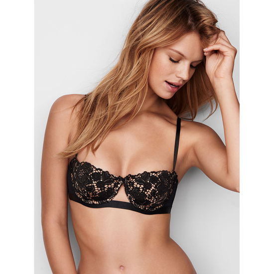 Cheap VICTORIA'S SECRET Black With New Nude Lace Balconet Bra Online