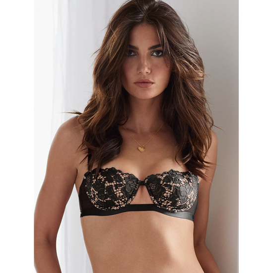 Cheap VICTORIA\'S SECRET Black With New Nude Lace Balconet Bra Online