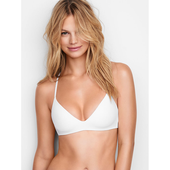 Cheap VICTORIA\'S SECRET White Lightly Lined Wireless Bra Online