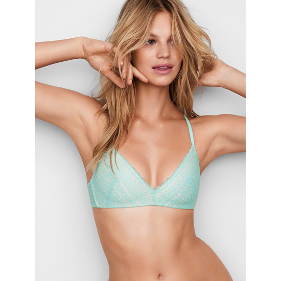 Cheap VICTORIA'S SECRET Aqua Splash Lace Lightly Lined Wireless Bra Online