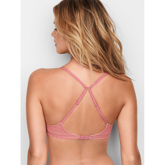 Cheap VICTORIA\'S SECRET Rosy Mauve Lace Lightly Lined Wireless Bra Online