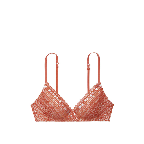 Cheap VICTORIA\'S SECRET Ginger Glaze Lace Lightly Lined Wireless Bra Online