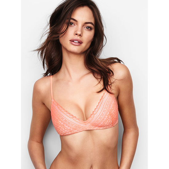 Cheap VICTORIA'S SECRET Lip Smacker Lace Lightly Lined Wireless Bra Online