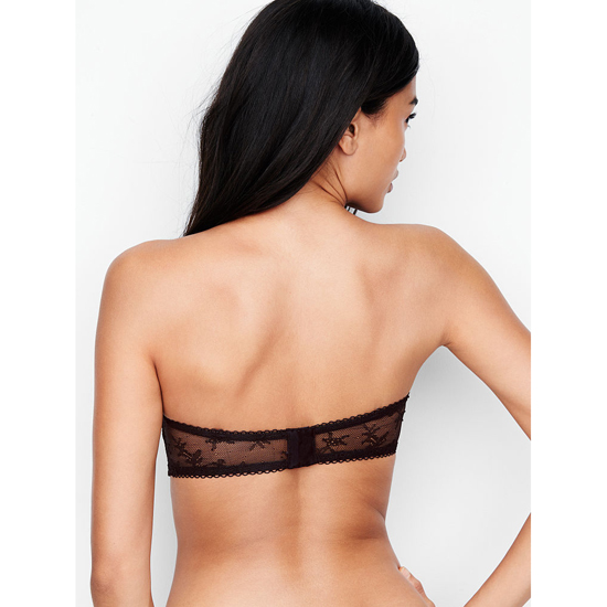 Cheap VICTORIA\'S SECRET Black With Chantilly Lace NEW! Crochet Lace Strapless Bralette Online