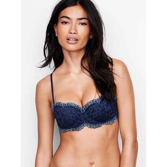 Cheap VICTORIA\'S SECRET Ensign With Faded Denim Crossdye NEW! Strapless Balconet Bra Online